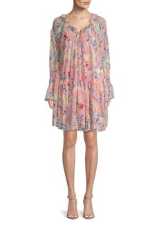 See by Chloé Ruffled Floral Peasant Dress
