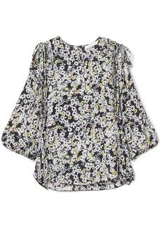 See by Chloé Ruffled floral-print chiffon blouse