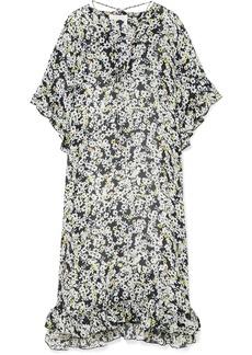 See by Chloé Ruffled Floral-print Chiffon Midi Dress