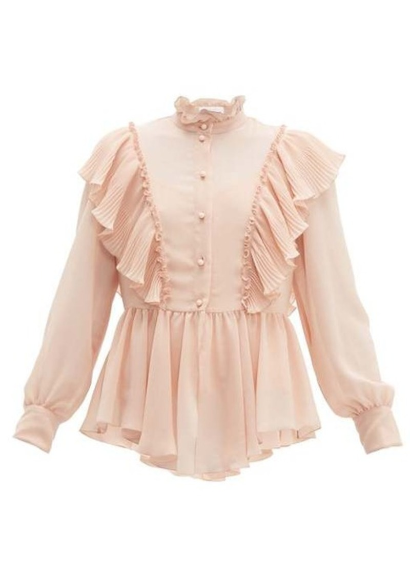 See By Chloé Ruffled georgette blouse