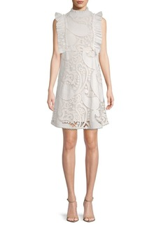 See by Chloé Ruffled Paisley Lace Dress