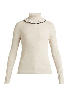 See By Chloé Ruffled roll-neck sweater
