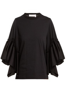 See By Chloé Ruffled-sleeve cotton top