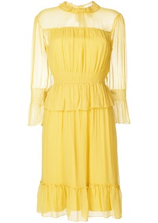 See By Chloé ruffled tea dress - Yellow & Orange