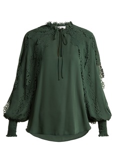 See By Chloé Ruffled-trim georgette blouse