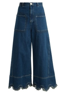 See By Chloé Scallop-hem wide-leg jeans