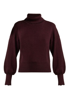 See By Chloé Scallop-trimmed wool-knit sweater
