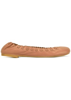 See By Chloé scalloped ballerina shoes - Nude & Neutrals