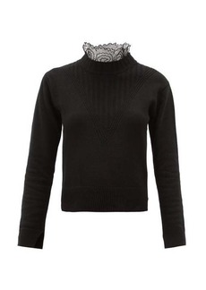 See By Chloé Scalloped-collar knitted sweater