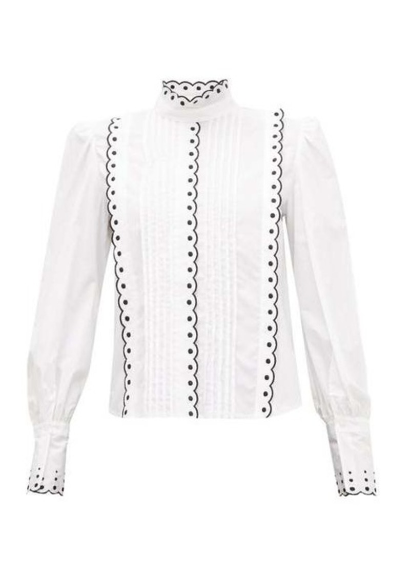 See By Chloé Scalloped cotton blouse