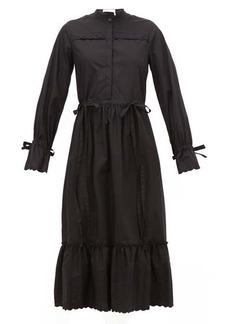 See By Chloé Scalloped-edge cotton-poplin shirt dress