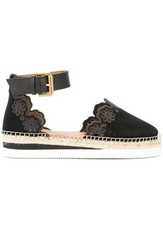 See By Chloé scalloped espadrille pumps - Black