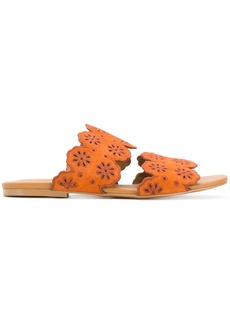 See By Chloé scalloped flat sandals - Yellow & Orange