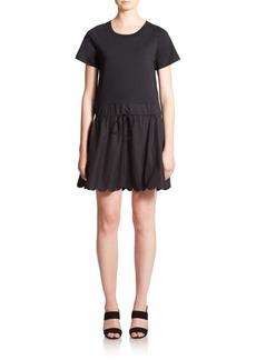 See by Chloé Scalloped Poplin T-Shirt Dress