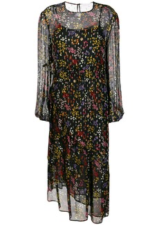 See By Chloé sheer floral midi dress - Black