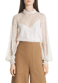 See by Chloé Sheer Lace Blouse