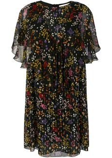 See By Chloé sheer ruffled floral dress - Black