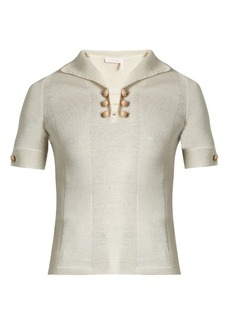 See By Chloé Short-sleeved wool polo top