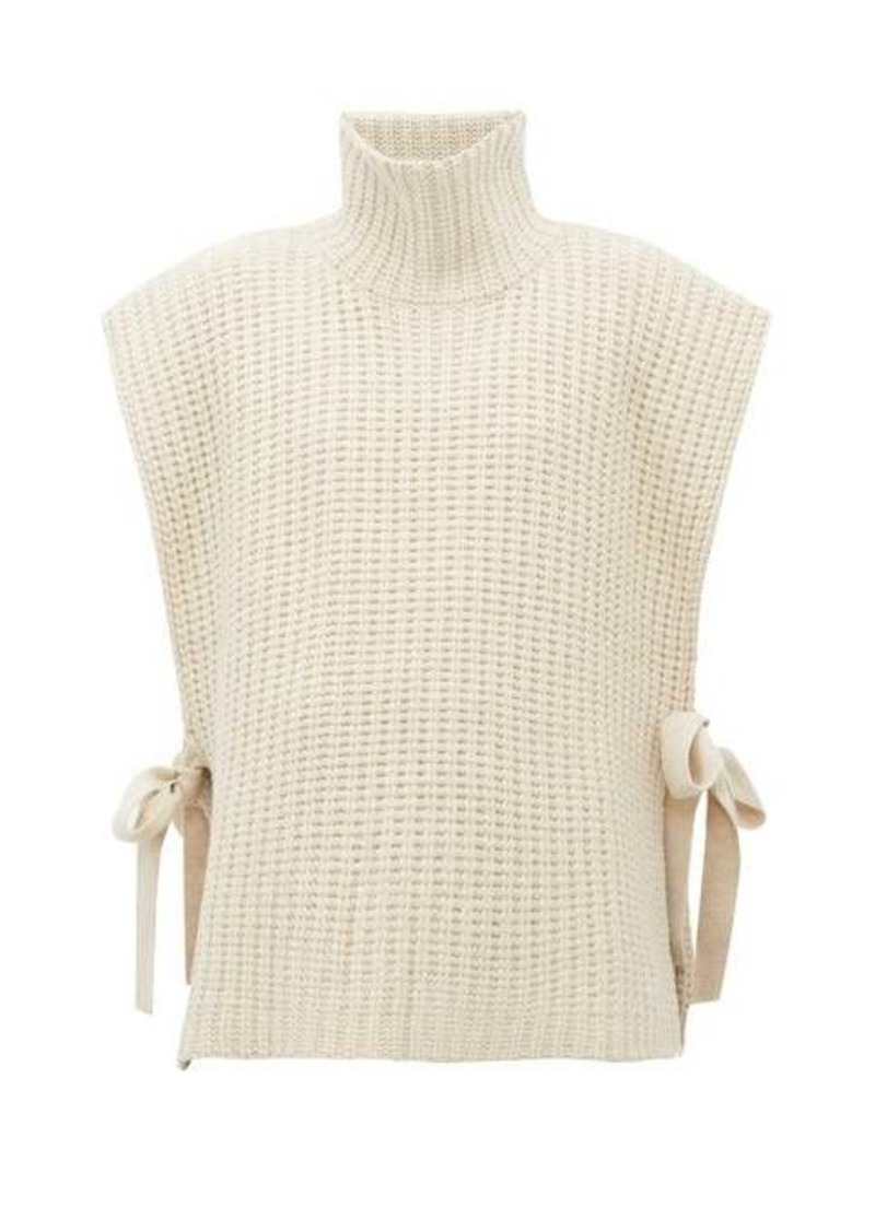 See By Chloé Side-tie ribbed high-neck sweater