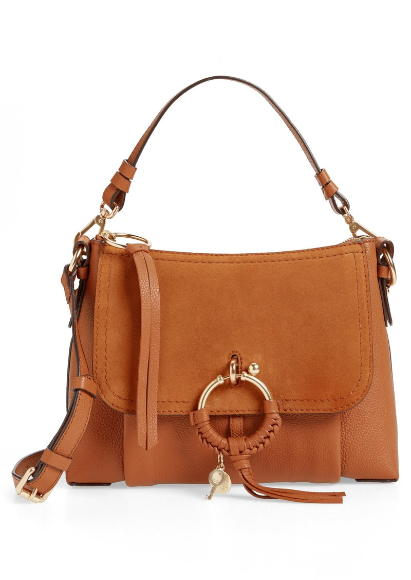 See by Chloé Small Joan Suede & Leather Crossbody Bag