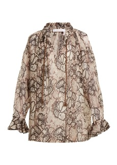 See By Chloé Snake-print chiffon blouse