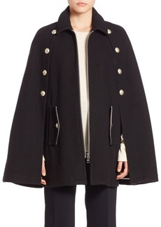 See by Chloé Solid Wool Blend Cape