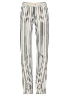 See By Chloé Striped cotton-twill trousers