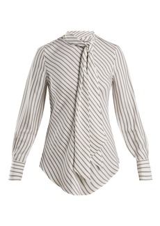 See By Chloé Striped crepe blouse