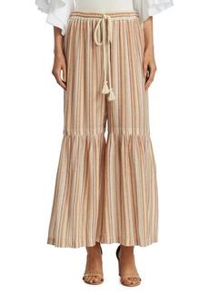 See by Chloé Striped Wide-Leg Pants