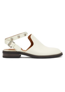 See By Chloé Studded backless leather loafers