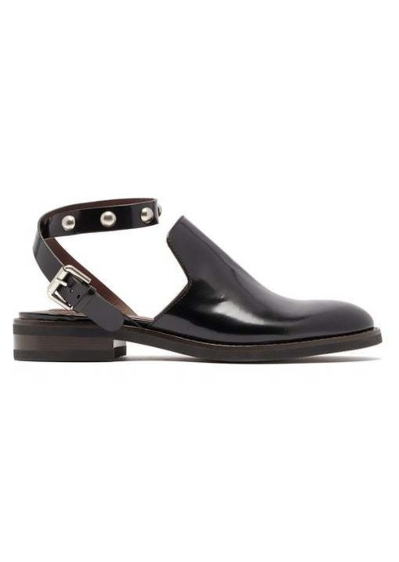 See By Chloé Studded-strap leather loafers