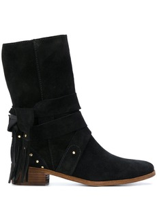 See By Chloé studded tie boots - Black