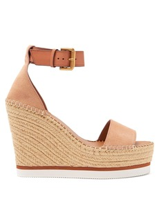 See By Chloé Suede espadrille wedge sandals