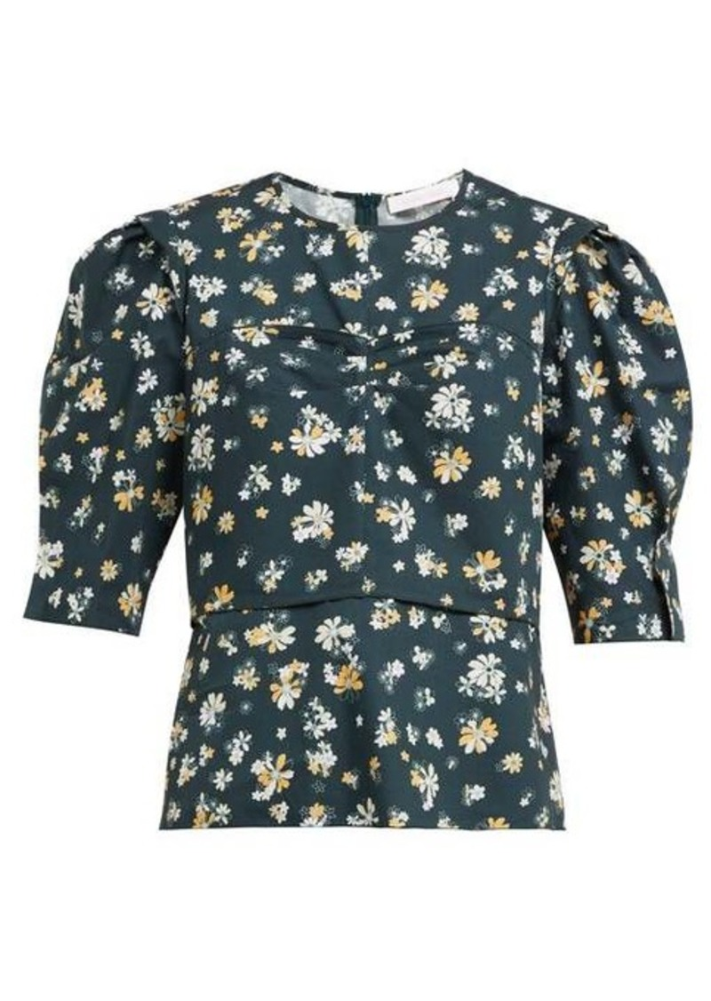 See By Chloé Summer floral-print cotton blouse