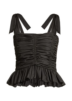 See By Chloé Taffeta ruffled top