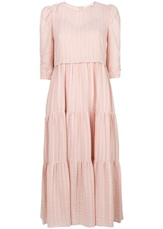 See By Chloé textured dress - Pink & Purple