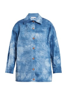 See By Chloé Tie-dye point-collar cotton-blend jacket