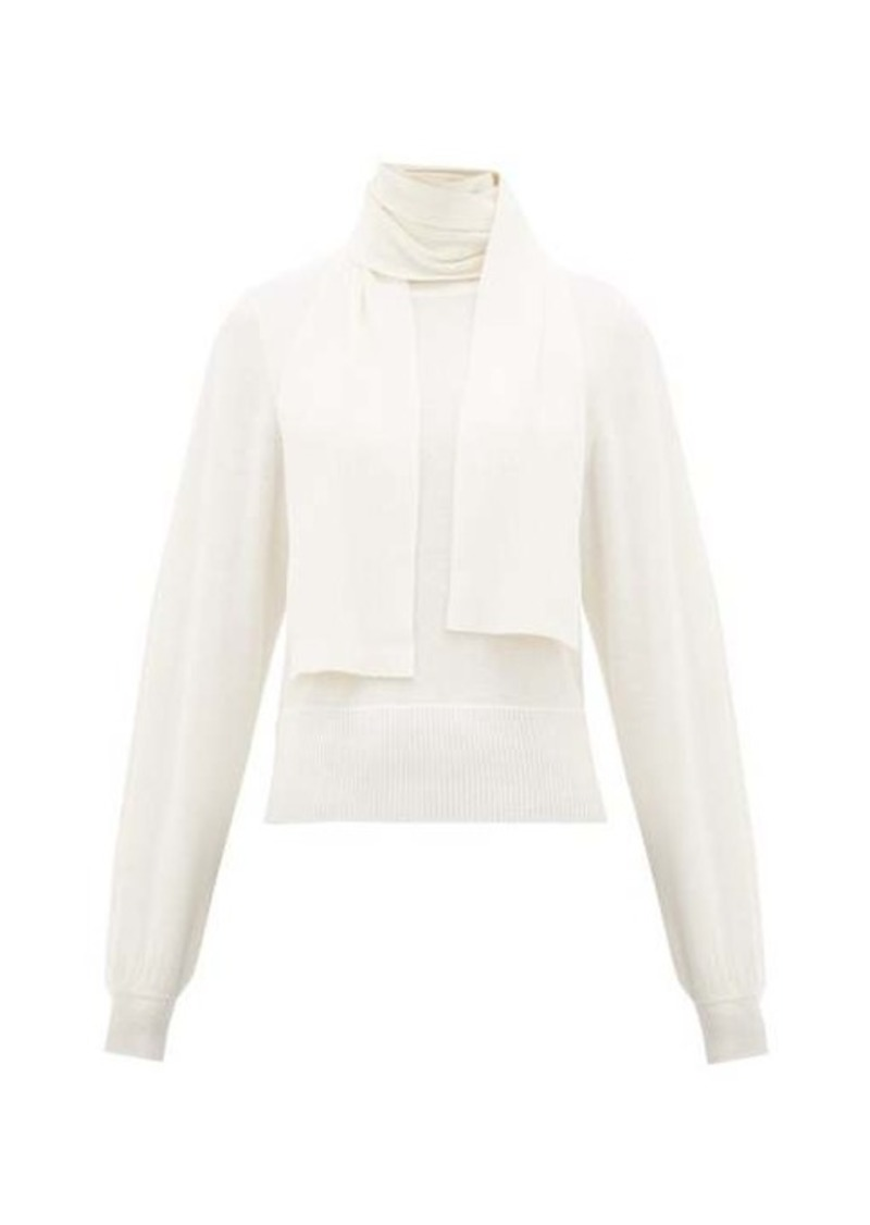 See By Chloé Tie-neck bishop-sleeve sweater