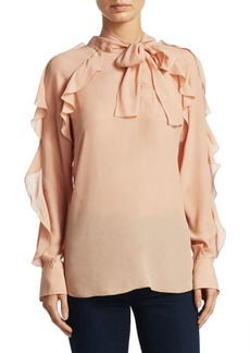 See by Chloé Tie Neck Ruffle Blouse