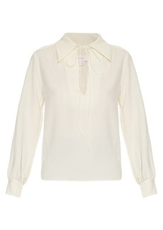 See By Chloé Tie-neck crepe blouse