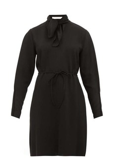 See By Chloé Tie-neck crepe dress