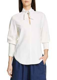 See by Chloé Tie Neck Crepe Top