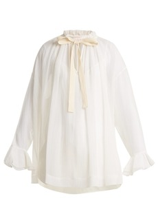 See By Chloé Tie-neck voile blouse