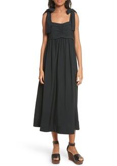 See by Chloé Tie Strap Midi Dress