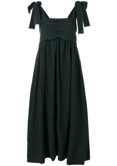 See By Chloé tie strap sleeveless midi dress - Black