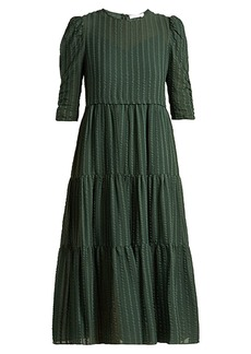 See By Chloé Tiered cotton voile midi dress