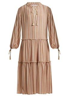 See By Chloé Tiered striped gauze dress