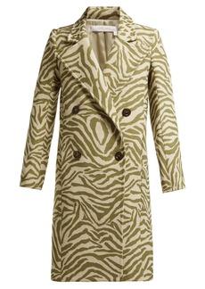 See By Chloé Tiger-print wool-blend coat