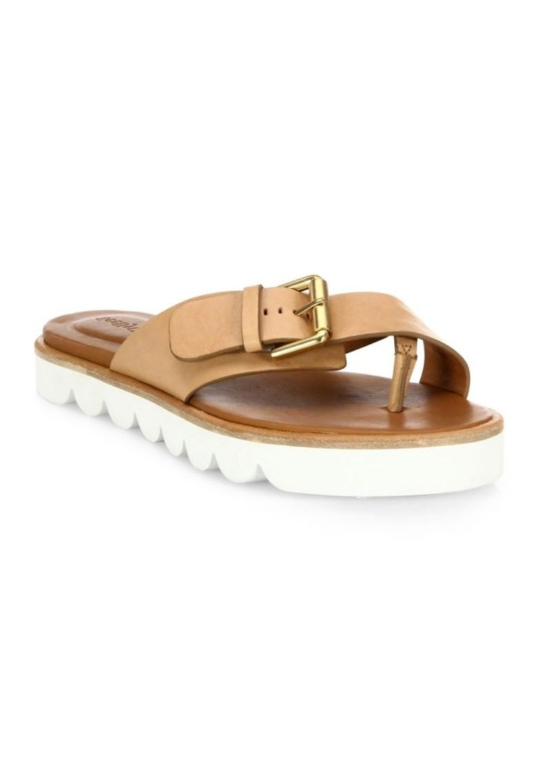 See by Chloé Tiny Buckle Leather Sandals