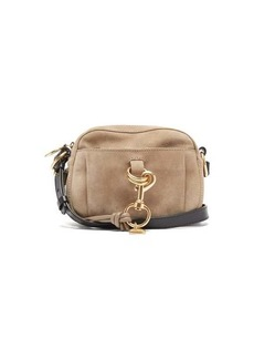 See By Chloé Tony grained-leather and suede camera bag